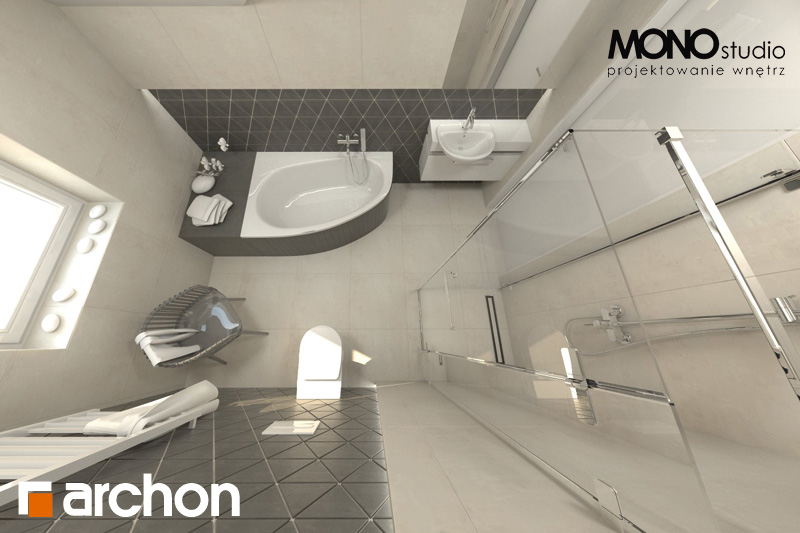 Проект будинку ARCHON+ Будинок в суниці 4 вер.2 візуалізація ванни (візуалізація 1 від 5)