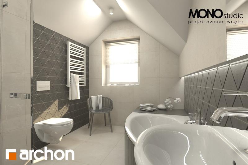 Проект будинку ARCHON+ Будинок в суниці 4 візуалізація ванни (візуалізація 1 від 1)