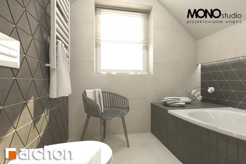 Проект будинку ARCHON+ Будинок в суниці 4 візуалізація ванни (візуалізація 1 від 2)