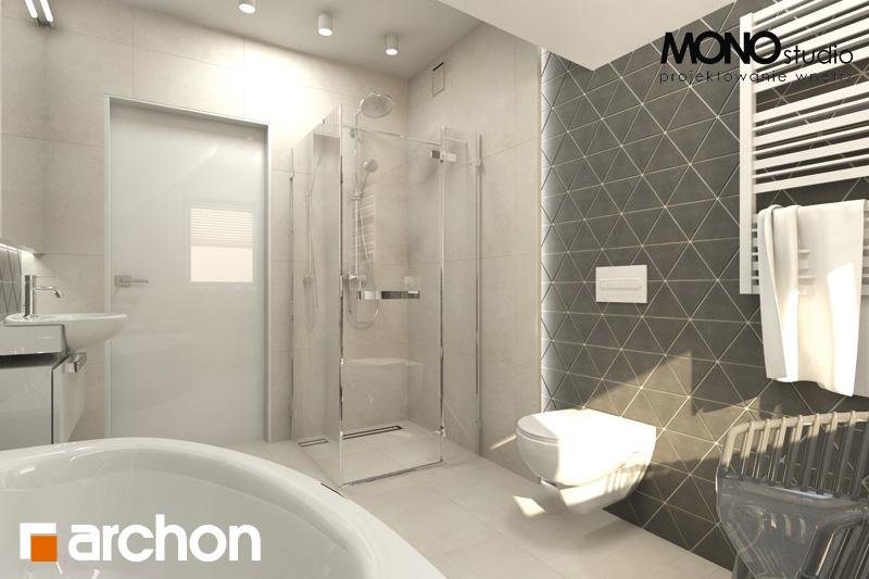 Проект будинку ARCHON+ Будинок в суниці 4 візуалізація ванни (візуалізація 1 від 3)