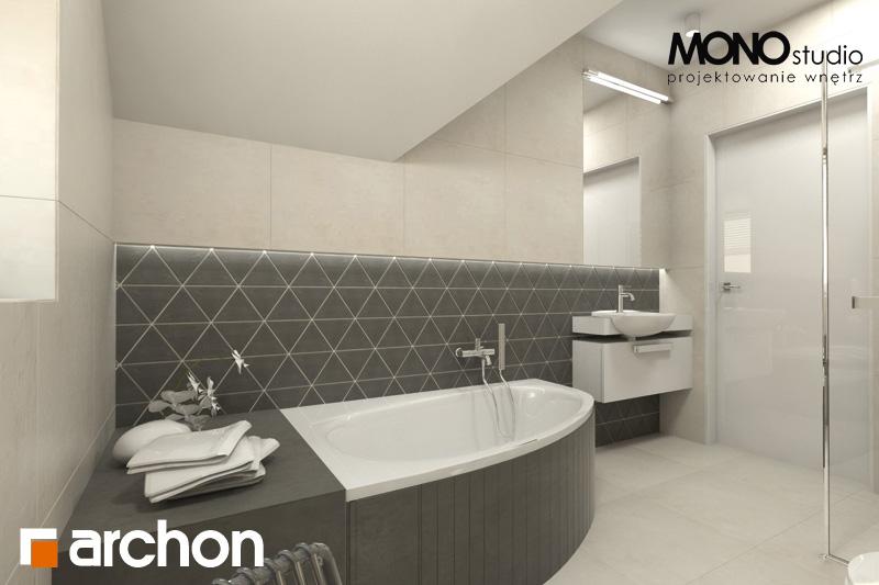 Проект будинку ARCHON+ Будинок в суниці 4 візуалізація ванни (візуалізація 1 від 4)