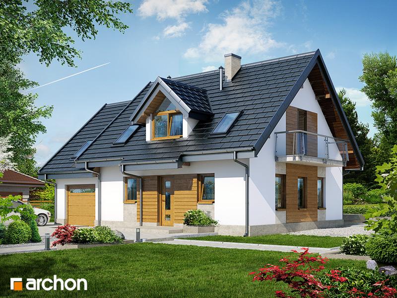 Проект будинку ARCHON+ Будинок в суниці 4 вер.2 стилізація 3