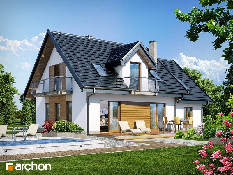Проект будинку ARCHON+ Будинок в суниці 4 стилізація 4