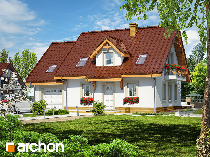 Проект будинку ARCHON+ Будинок в суниці 4 вер.2 Вид 1