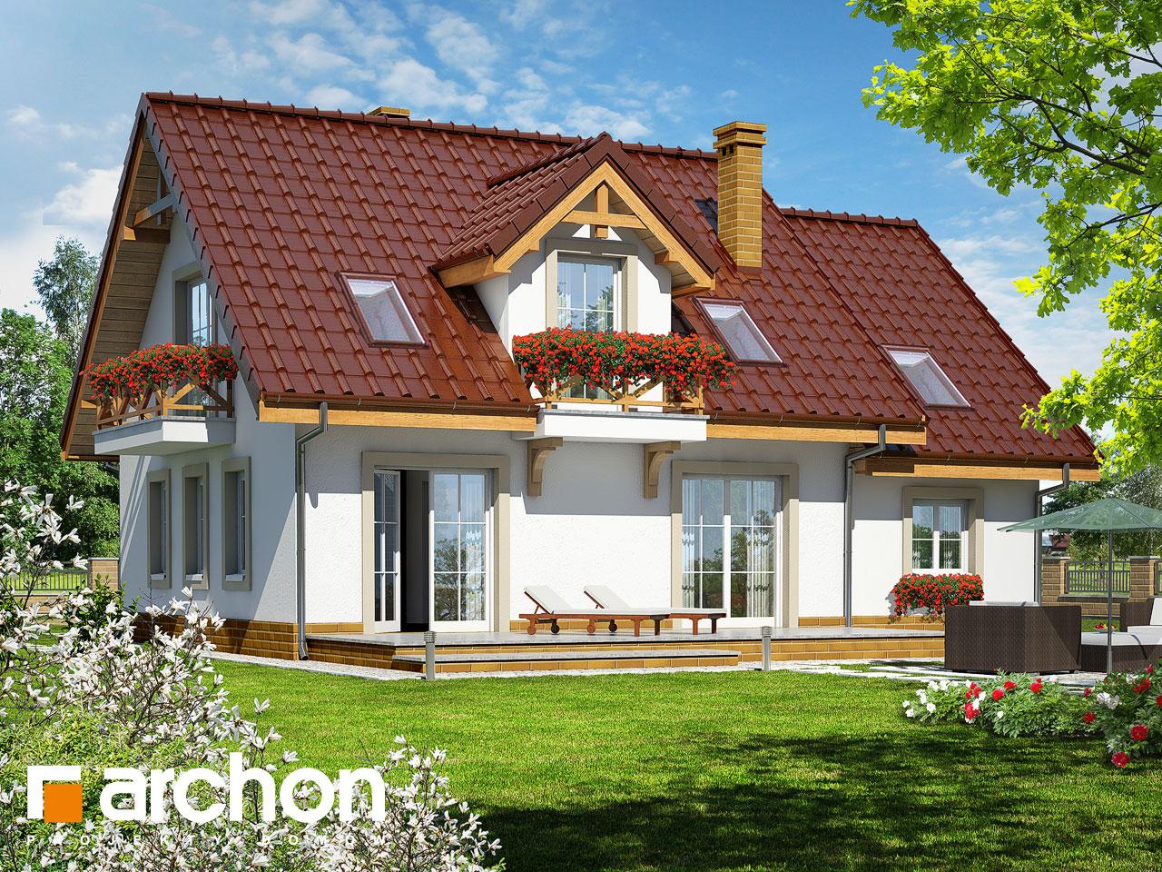 Проект будинку ARCHON+ Будинок в суниці 4 Вид 2