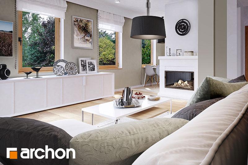 Проект будинку ARCHON+ Будинок в суниці 4 вер.2 денна зона (візуалізація 1 від 1)