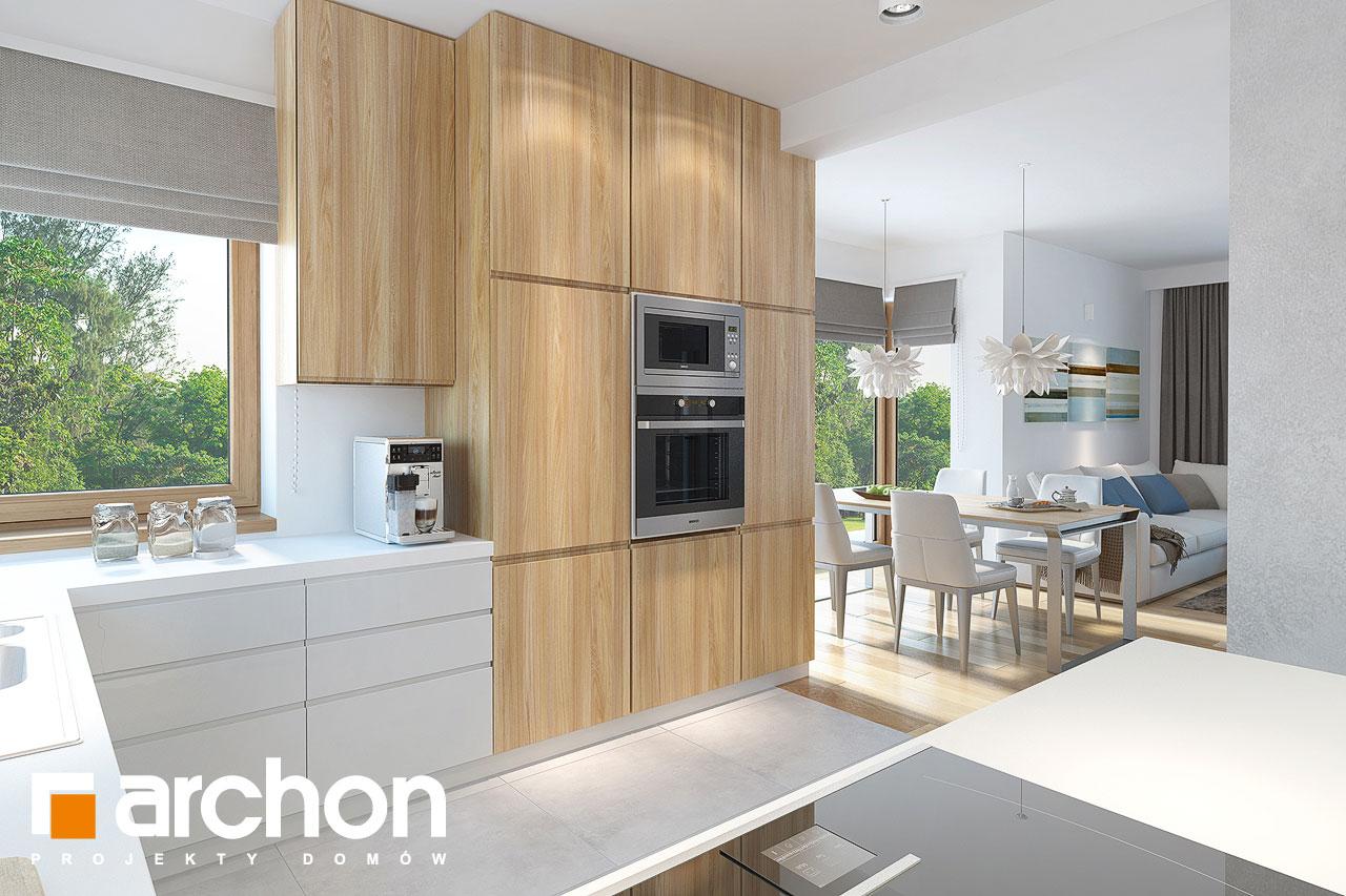 Проект будинку ARCHON+ Будинок в нектаринах (H) візуалізація кухні 1 від 1