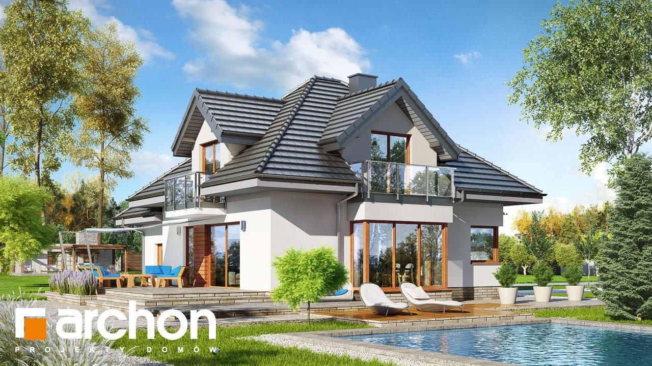 Проект будинку ARCHON+ Будинок в нектаринах (H) Вид 2