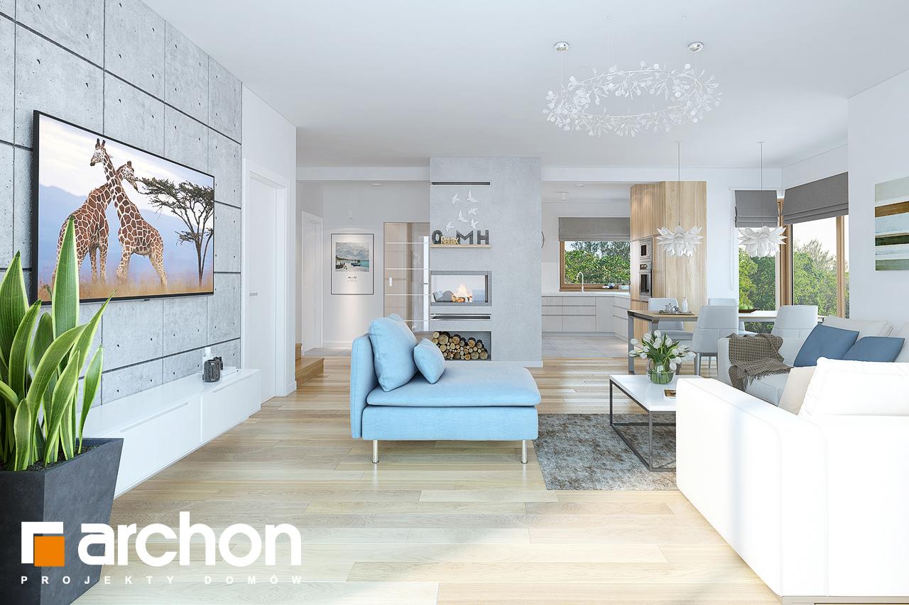 Проект будинку ARCHON+ Будинок в нектаринах (H) денна зона (візуалізація 1 від 2)