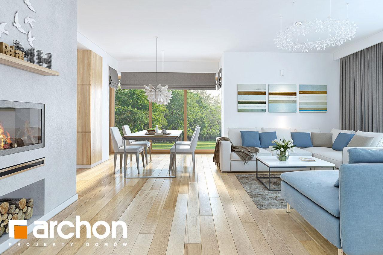Проект будинку ARCHON+ Будинок в нектаринах (H) денна зона (візуалізація 1 від 3)