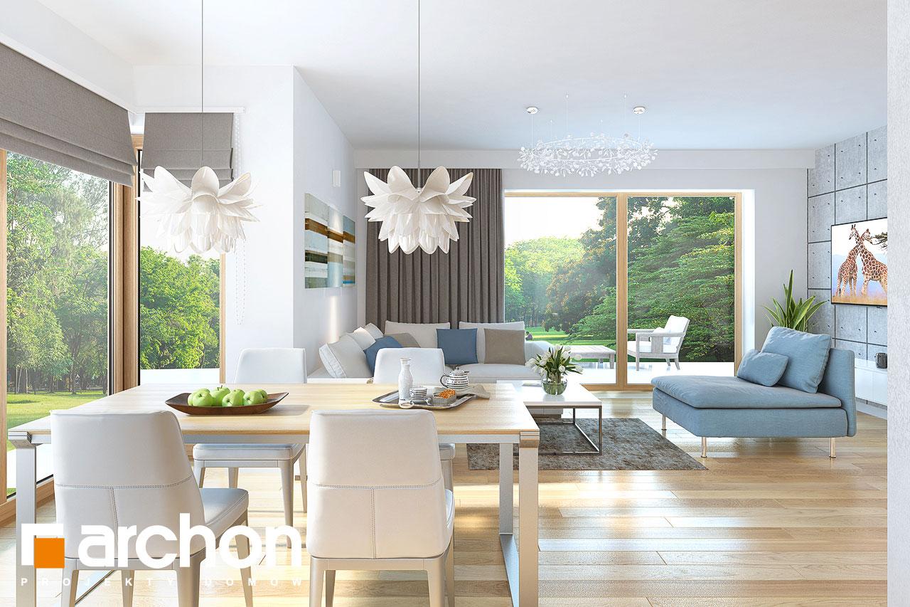 Проект будинку ARCHON+ Будинок в нектаринах (H) денна зона (візуалізація 1 від 4)