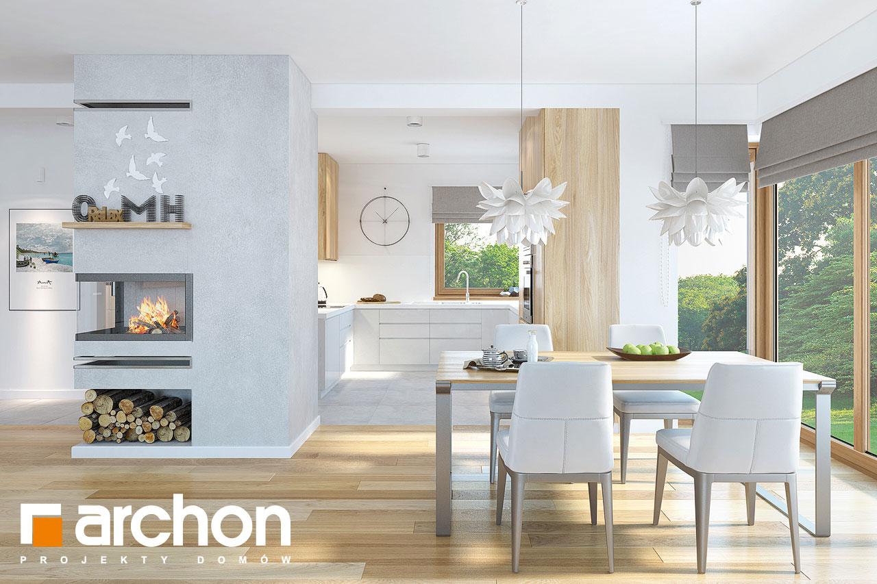 Проект будинку ARCHON+ Будинок в нектаринах (H) денна зона (візуалізація 1 від 5)