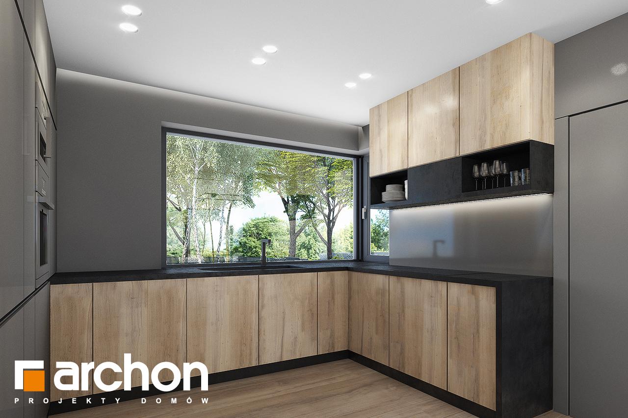 Проект дома ARCHON+ Дом в сурфиниях 2 визуализация кухни 1 вид 1