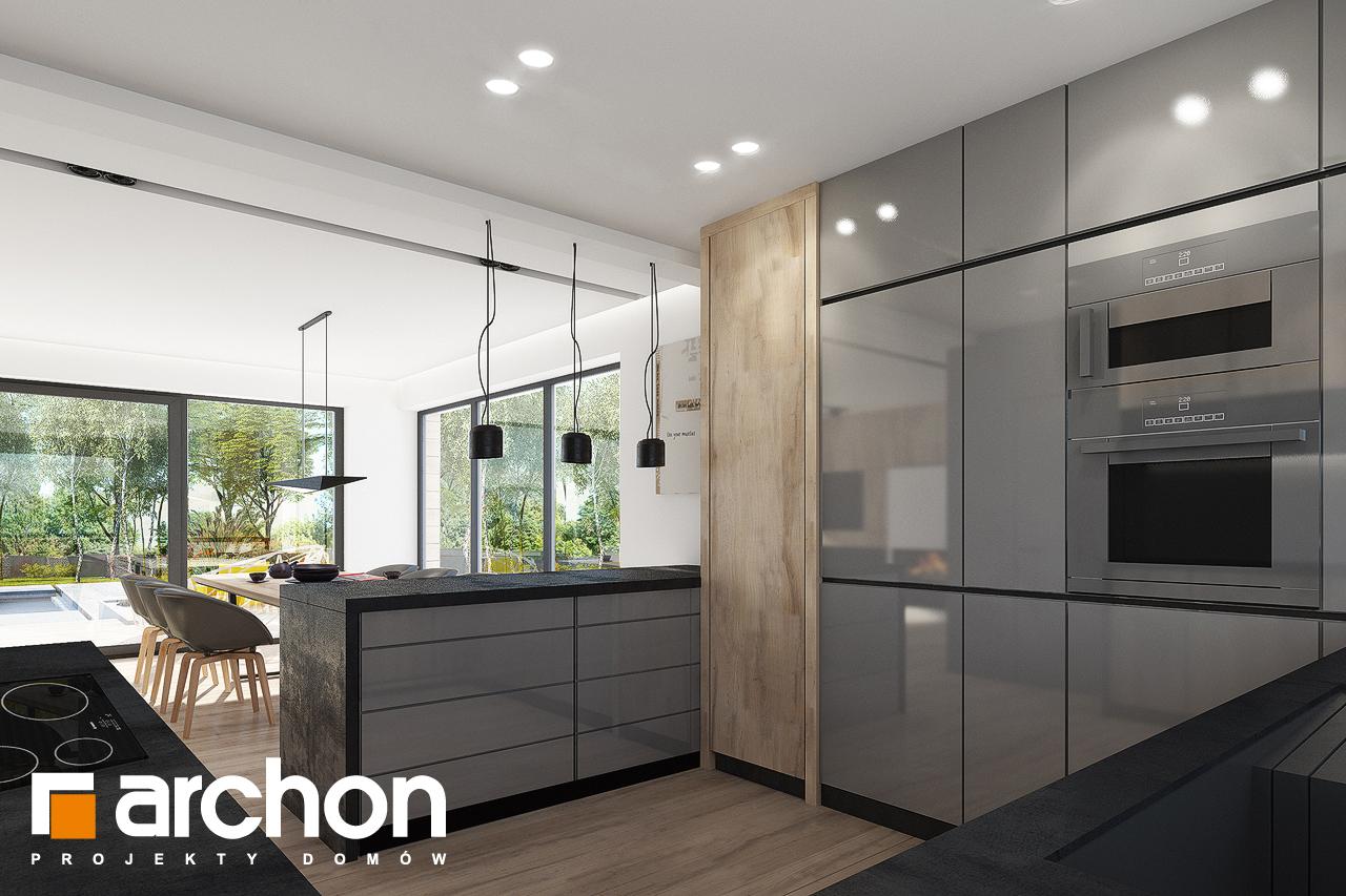 Проект дома ARCHON+ Дом в сурфиниях 2 визуализация кухни 1 вид 2