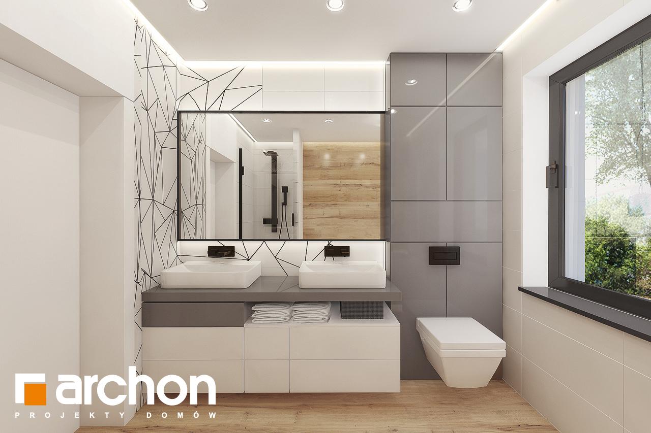 Проект дома ARCHON+ Дом в сурфиниях 2 визуализация ванной (визуализация 3 вид 1)