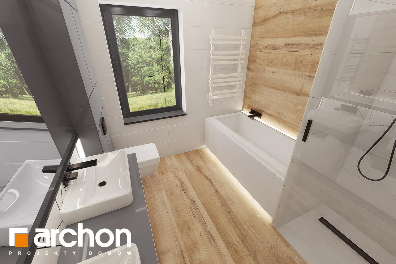 Проект дома ARCHON+ Дом в сурфиниях 2 визуализация ванной (визуализация 3 вид 4)