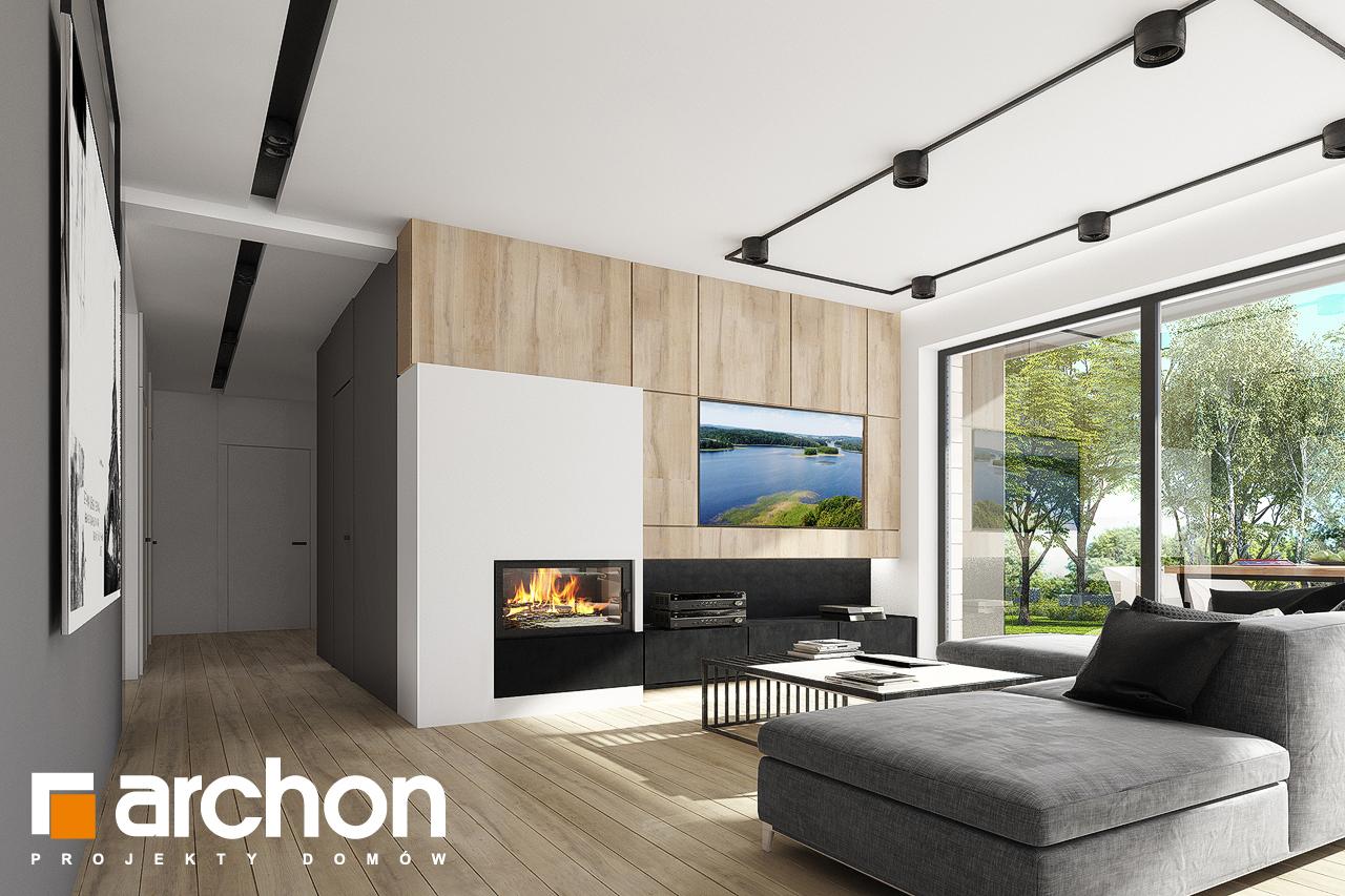 Проект дома ARCHON+ Дом в сурфиниях 2 дневная зона (визуализация 1 вид 1)