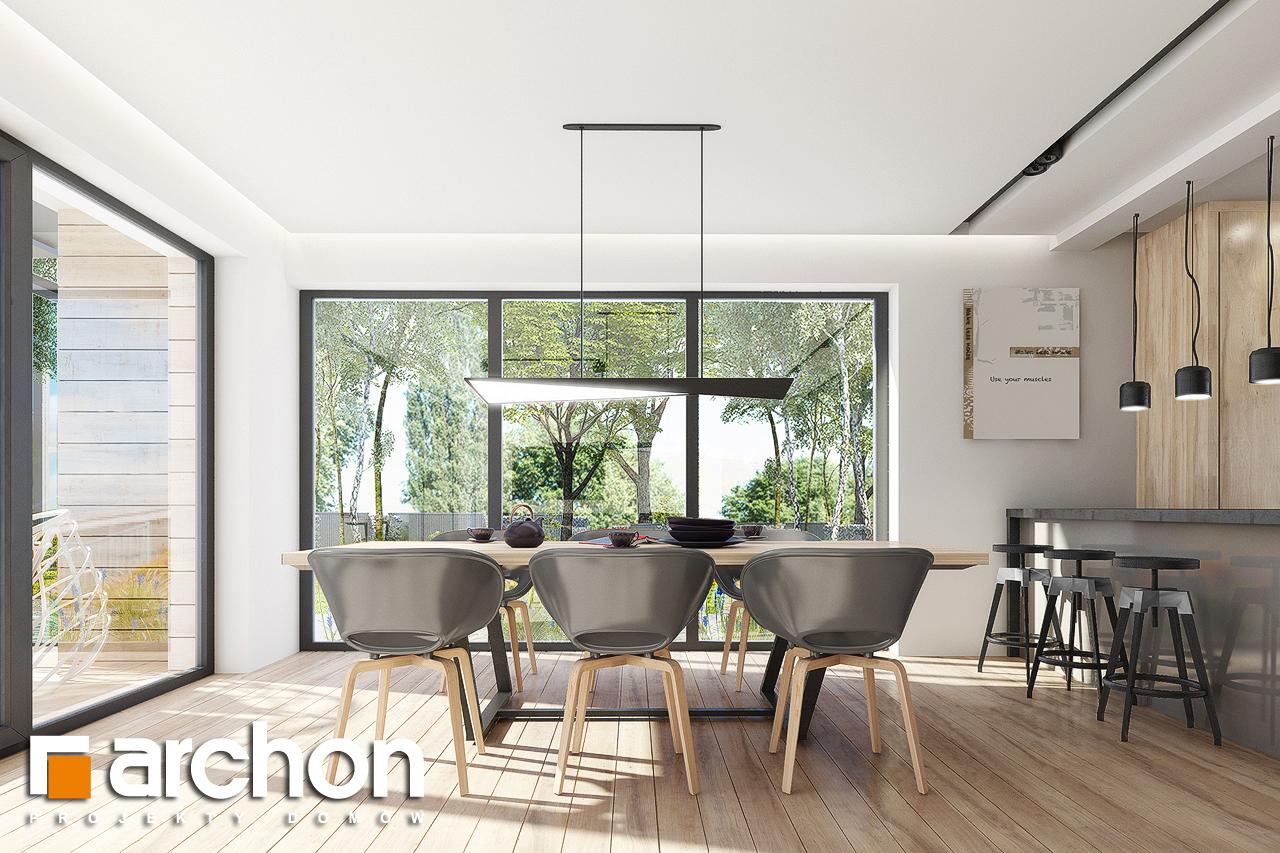Проект дома ARCHON+ Дом в сурфиниях 2 дневная зона (визуализация 1 вид 2)