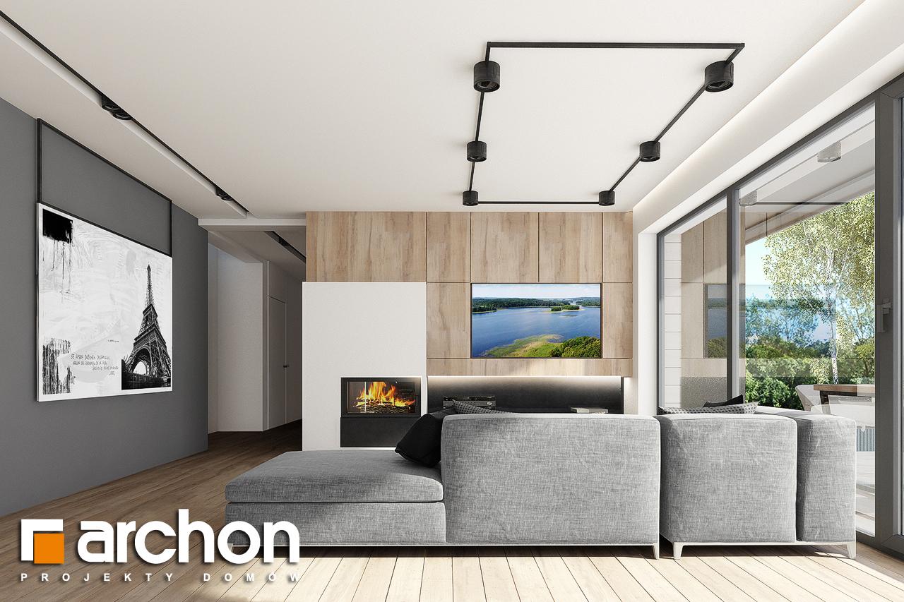 Проект дома ARCHON+ Дом в сурфиниях 2 дневная зона (визуализация 1 вид 4)