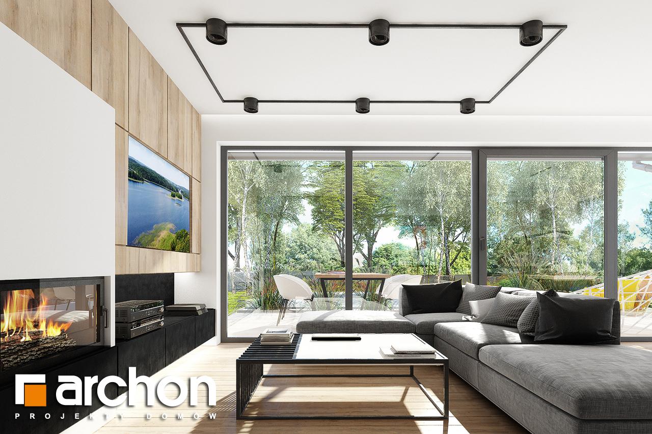 Проект дома ARCHON+ Дом в сурфиниях 2 дневная зона (визуализация 1 вид 5)