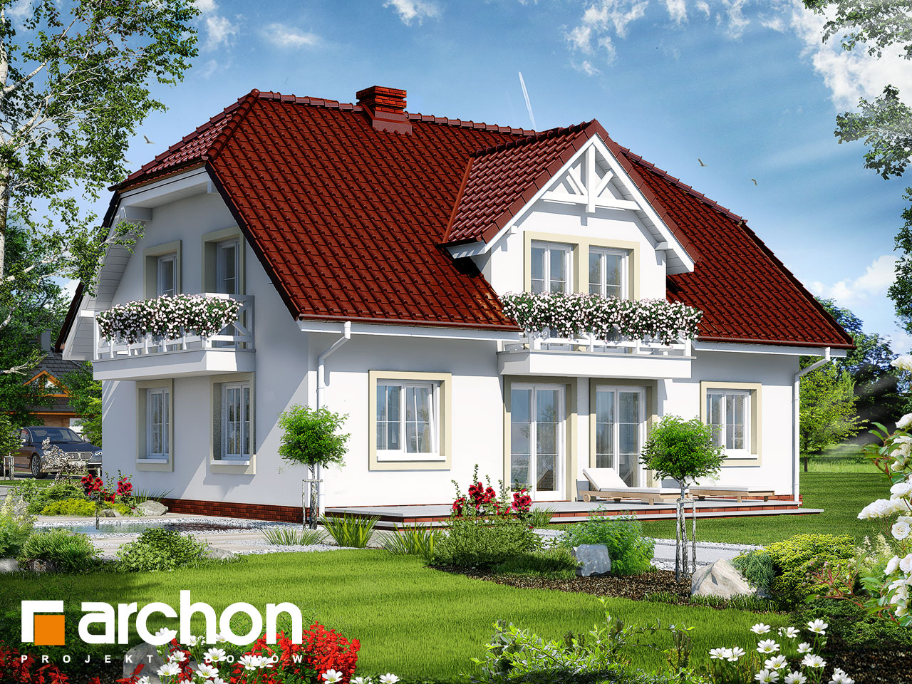 Проект будинку ARCHON+ Будинок в гладіолусах 2 вер.2 Вид 2