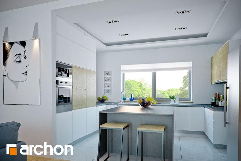 Проект дома ARCHON+ Дом в навлоциях (Г2) визуализация кухни 1 вид 1