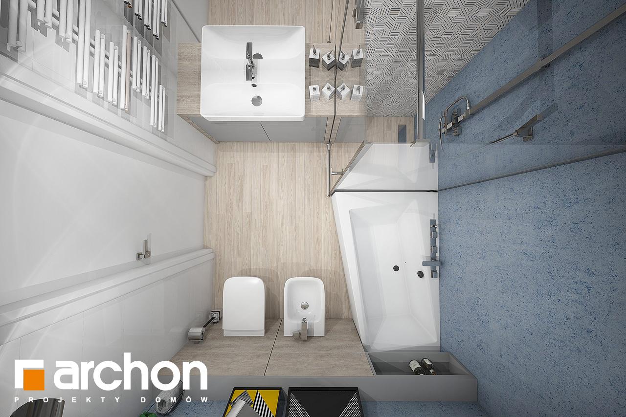 Проект дома ARCHON+ Дом в навлоциях (Г2) визуализация ванной (визуализация 3 вид 4)