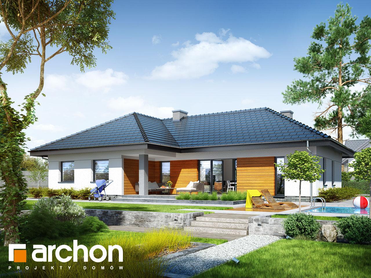 Проект дома ARCHON+ Дом в навлоциях (Г2) Вид 2