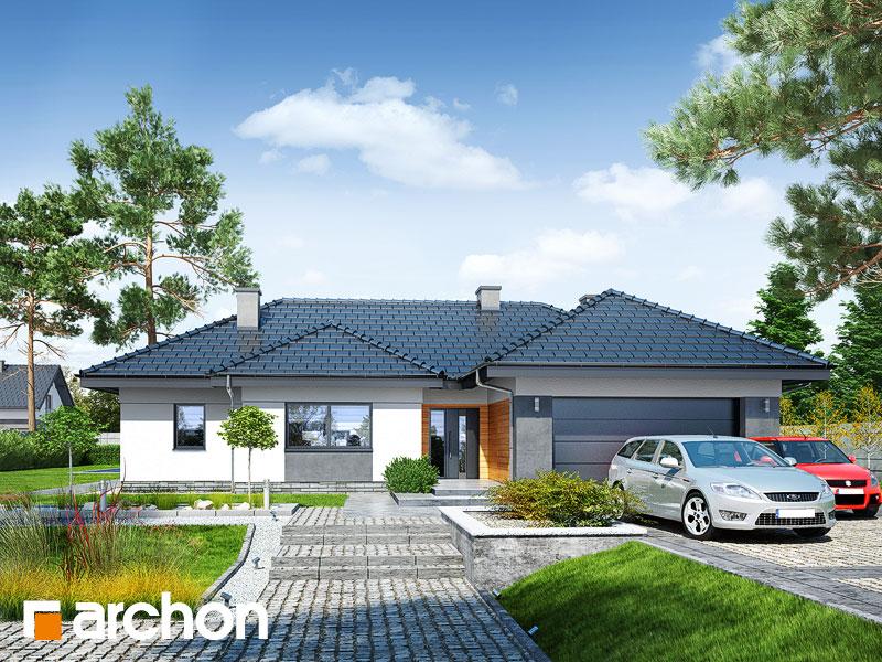 Проект дома ARCHON+ Дом в навлоциях (Г2) Вид 1
