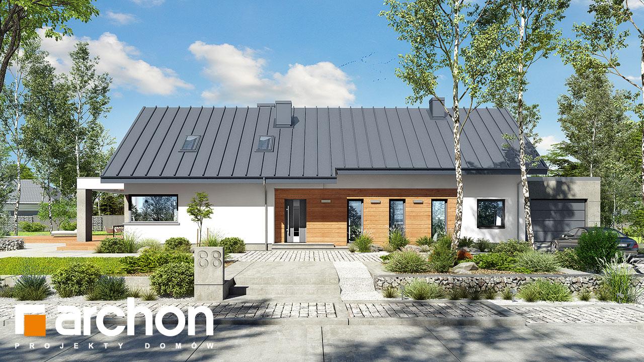 Проект будинку ARCHON+ Будинок в пепероміях 3 Вид 2