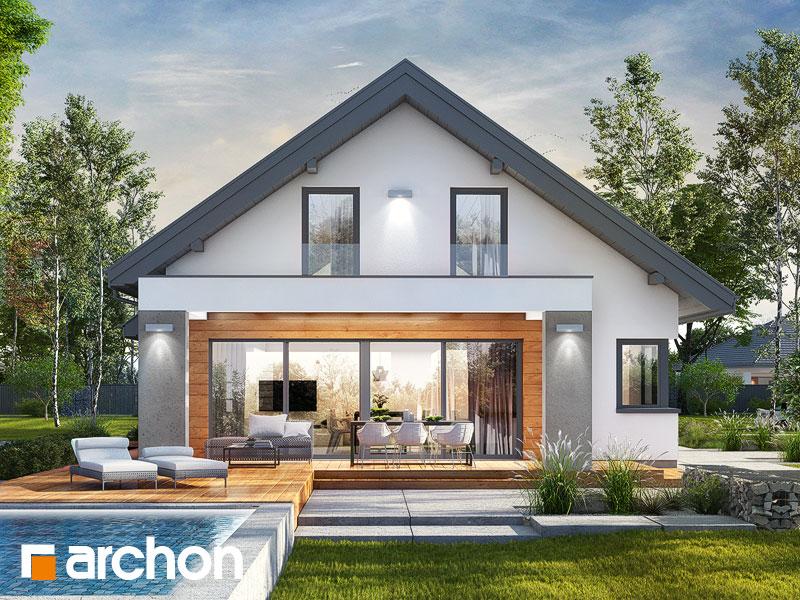 Проект дома ARCHON+ Дом в пеперомиях 3 Вид 1