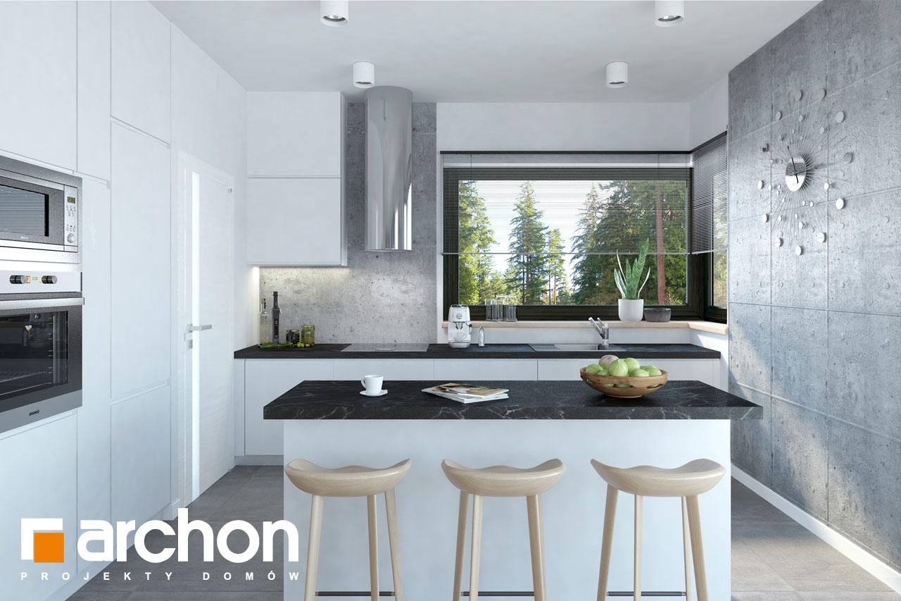 Проект дома ARCHON+ Дом в пеперомиях 3 дневная зона (визуализация 1 вид 2)