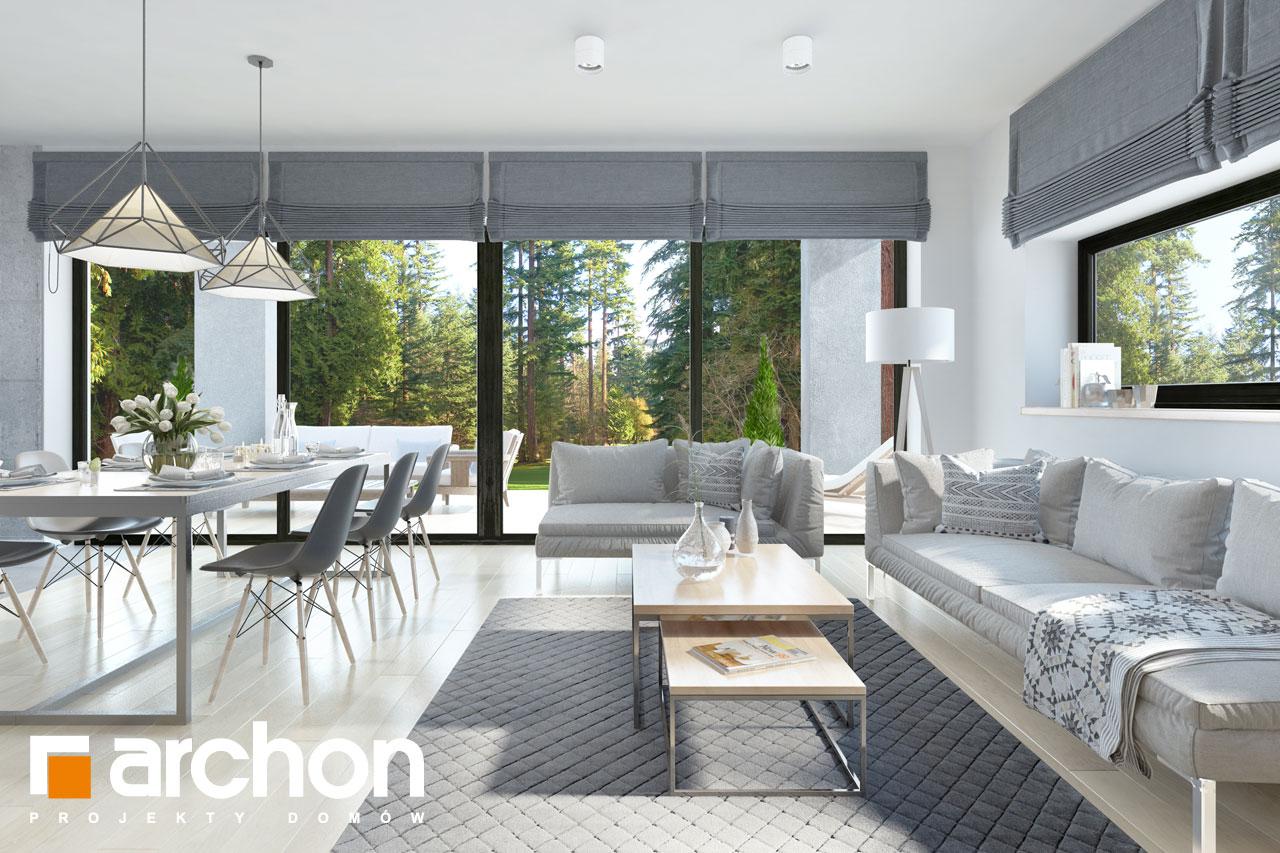 Проект дома ARCHON+ Дом в пеперомиях 3 дневная зона (визуализация 1 вид 4)