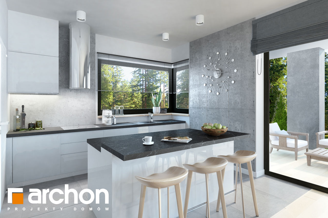 Проект дома ARCHON+ Дом в пеперомиях 3 дневная зона (визуализация 1 вид 5)