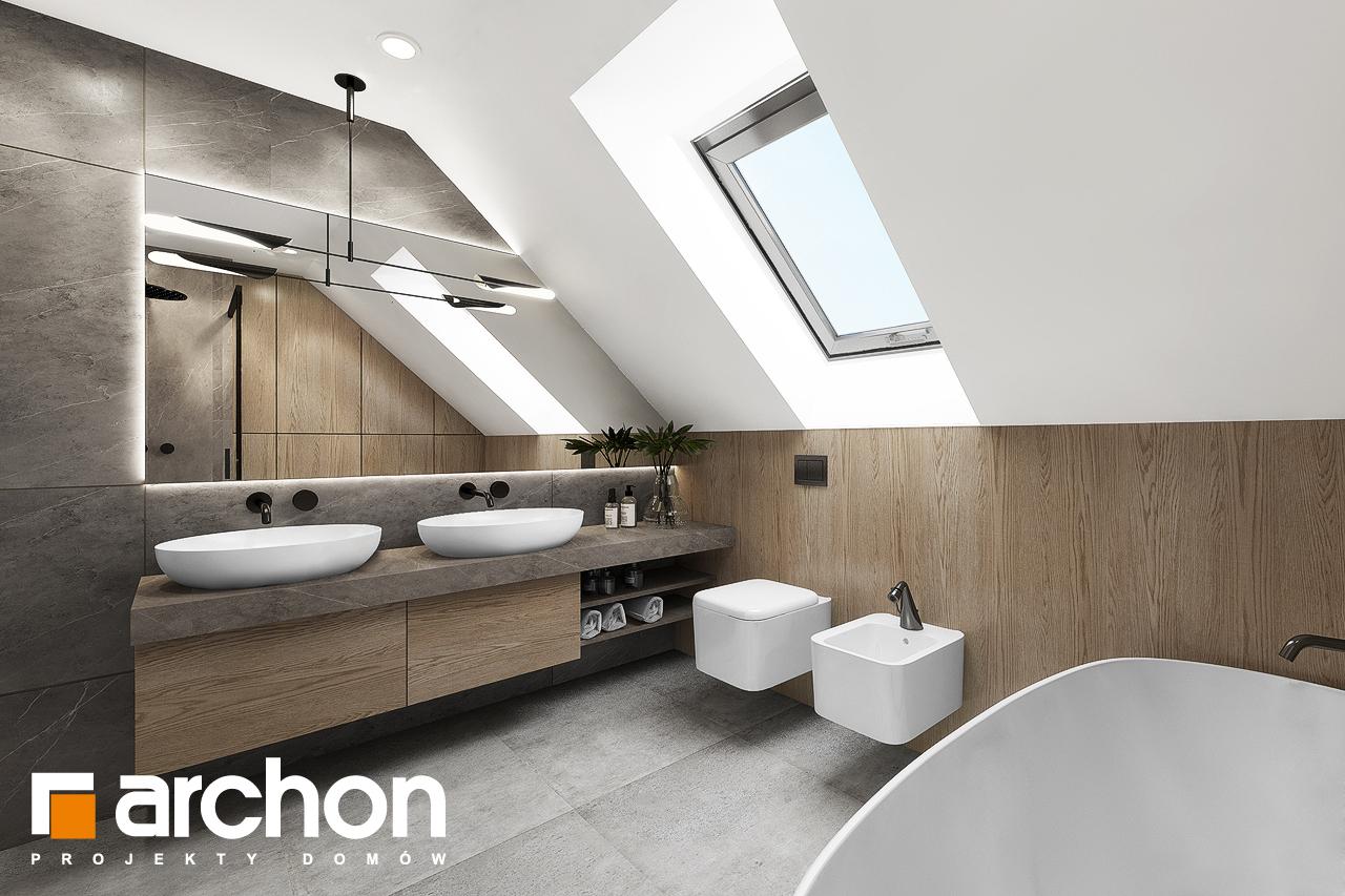 Проект дома ARCHON+ Дом в изопируме 7 (Г2) визуализация ванной (визуализация 3 вид 2)