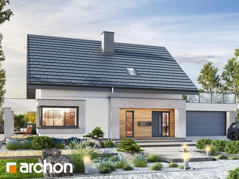Проект будинку ARCHON+ Будинок в ізопірумі 7 (Г2) Вид 1