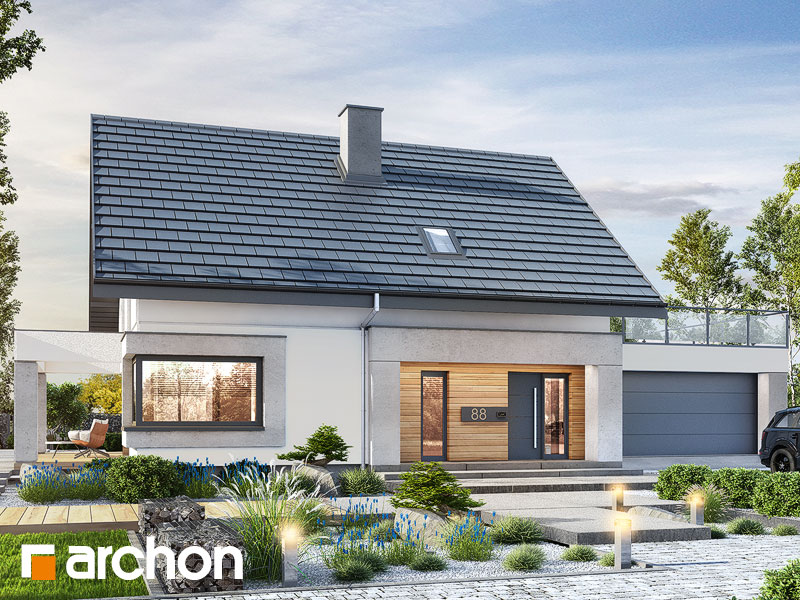 Проект дома ARCHON+ Дом в изопируме 7 (Г2) Вид 1