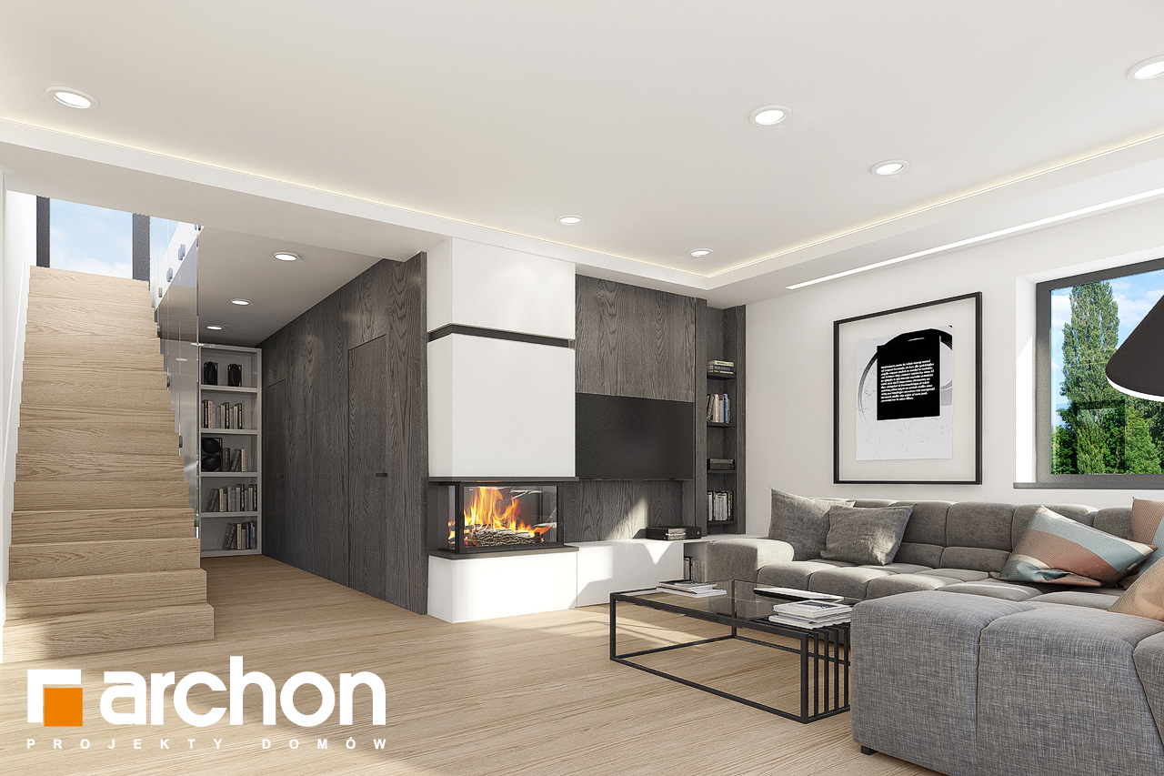 Проект будинку ARCHON+ Будинок в ізопірумі 7 (Г2) денна зона (візуалізація 1 від 6)