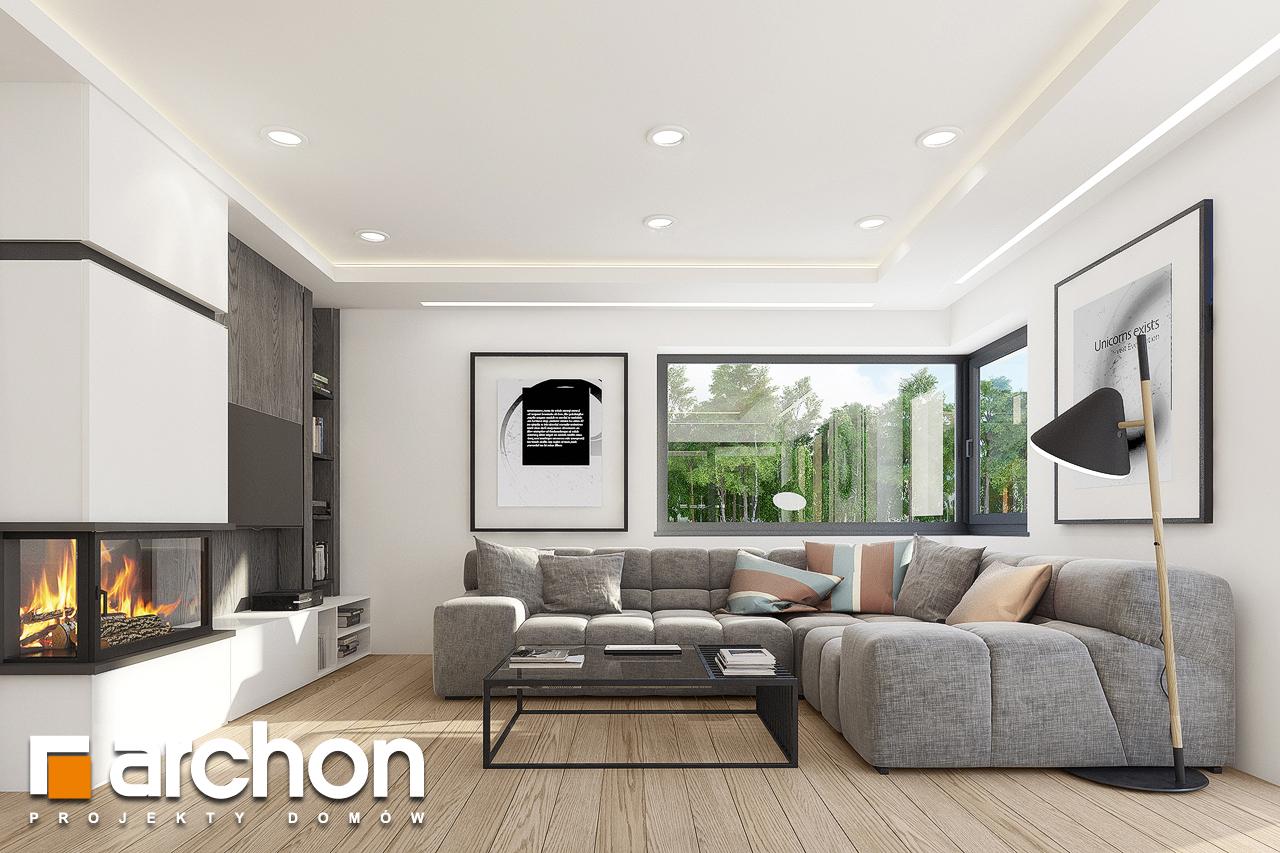 Проект дома ARCHON+ Дом в изопируме 7 (Г2) дневная зона (визуализация 1 вид 1)