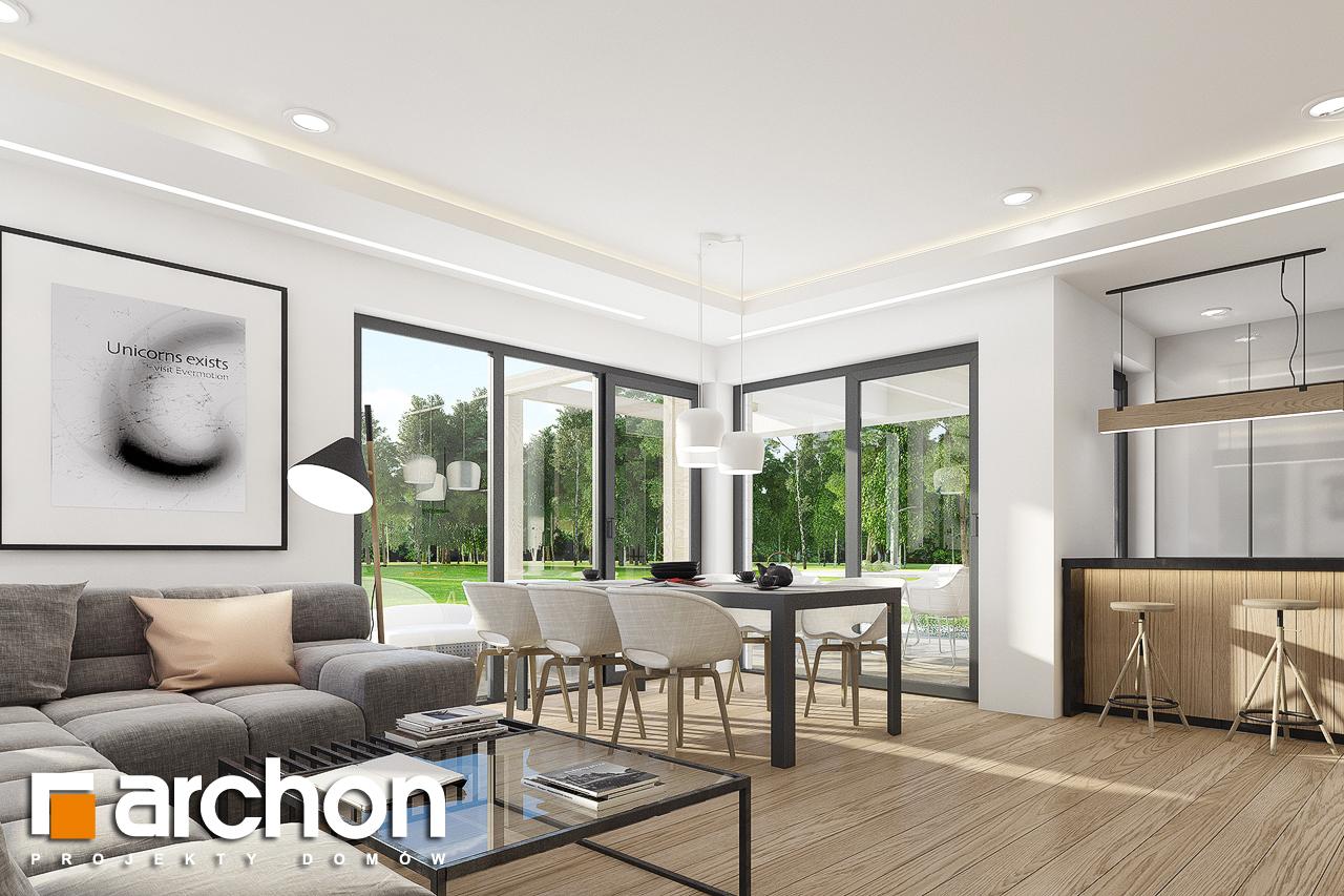 Проект дома ARCHON+ Дом в изопируме 7 (Г2) дневная зона (визуализация 1 вид 5)
