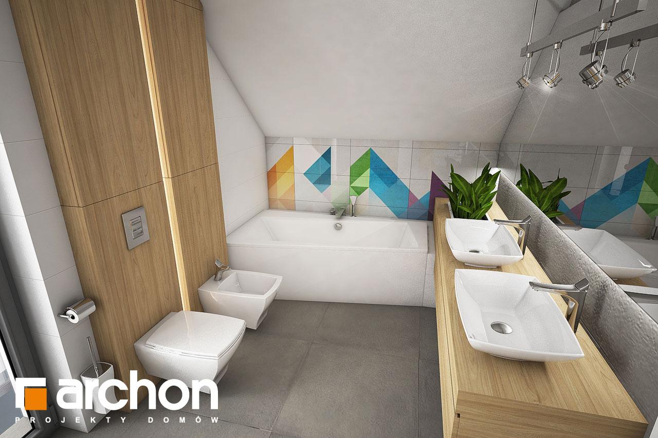 Проект будинку ARCHON+ Будинок в малинівці візуалізація ванни (візуалізація 3 від 2)