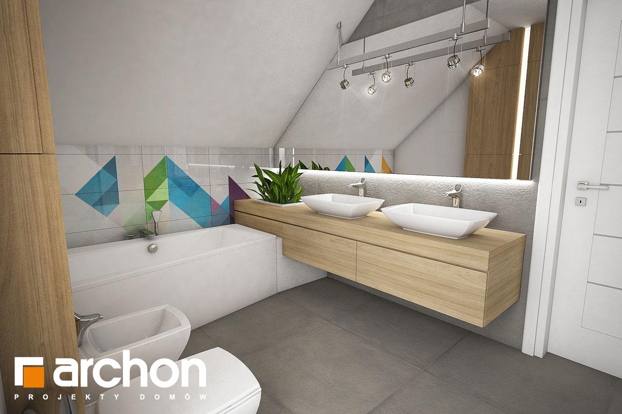 Проект будинку ARCHON+ Будинок в малинівці візуалізація ванни (візуалізація 3 від 3)