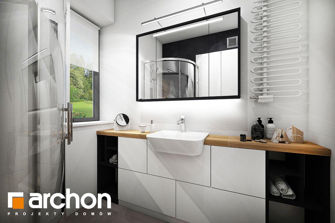 Проект будинку ARCHON+ Будинок в малинівці візуалізація ванни (візуалізація 4 від 2)