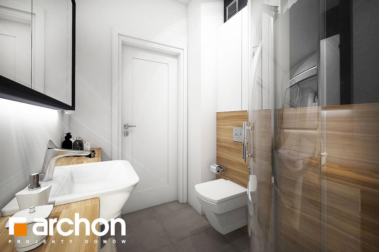 Проект будинку ARCHON+ Будинок в малинівці візуалізація ванни (візуалізація 4 від 3)