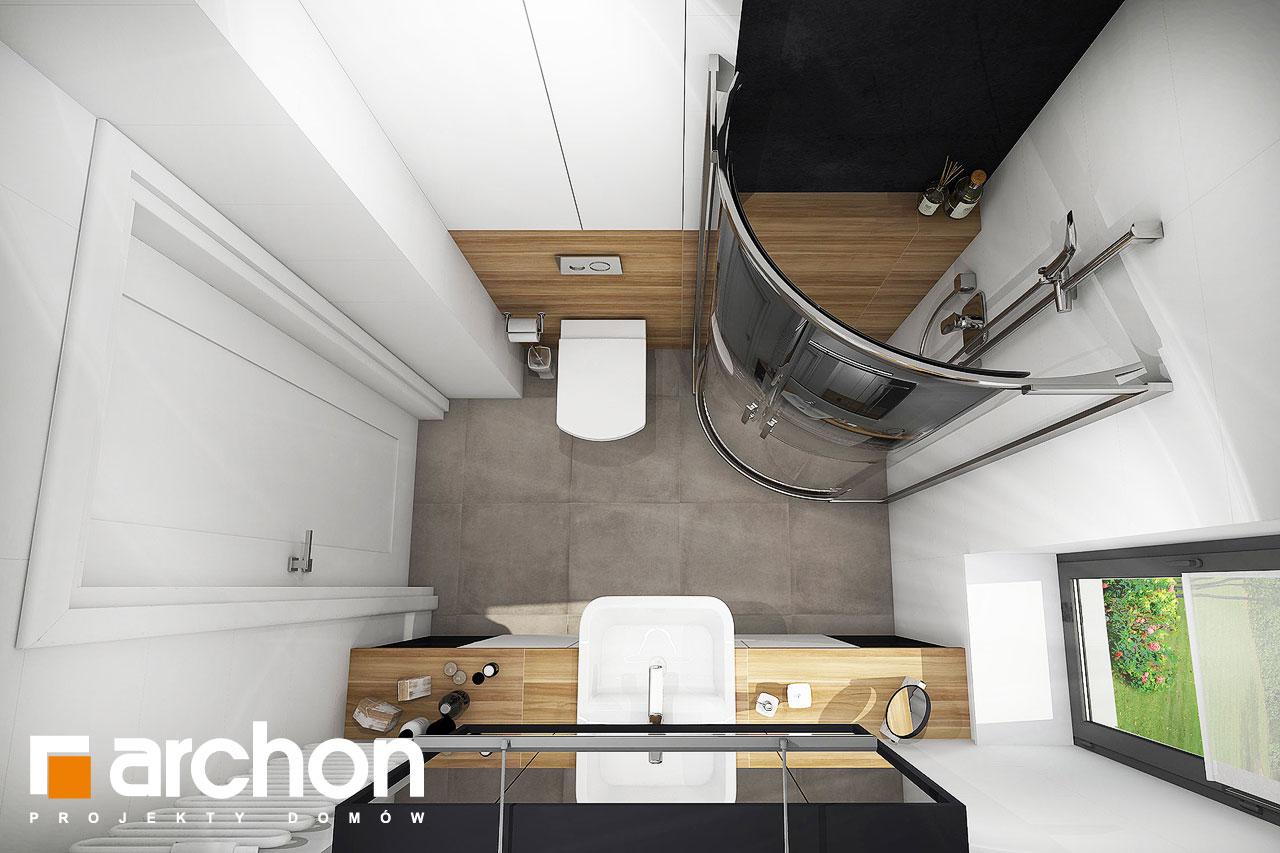 Проект будинку ARCHON+ Будинок в малинівці візуалізація ванни (візуалізація 4 від 4)