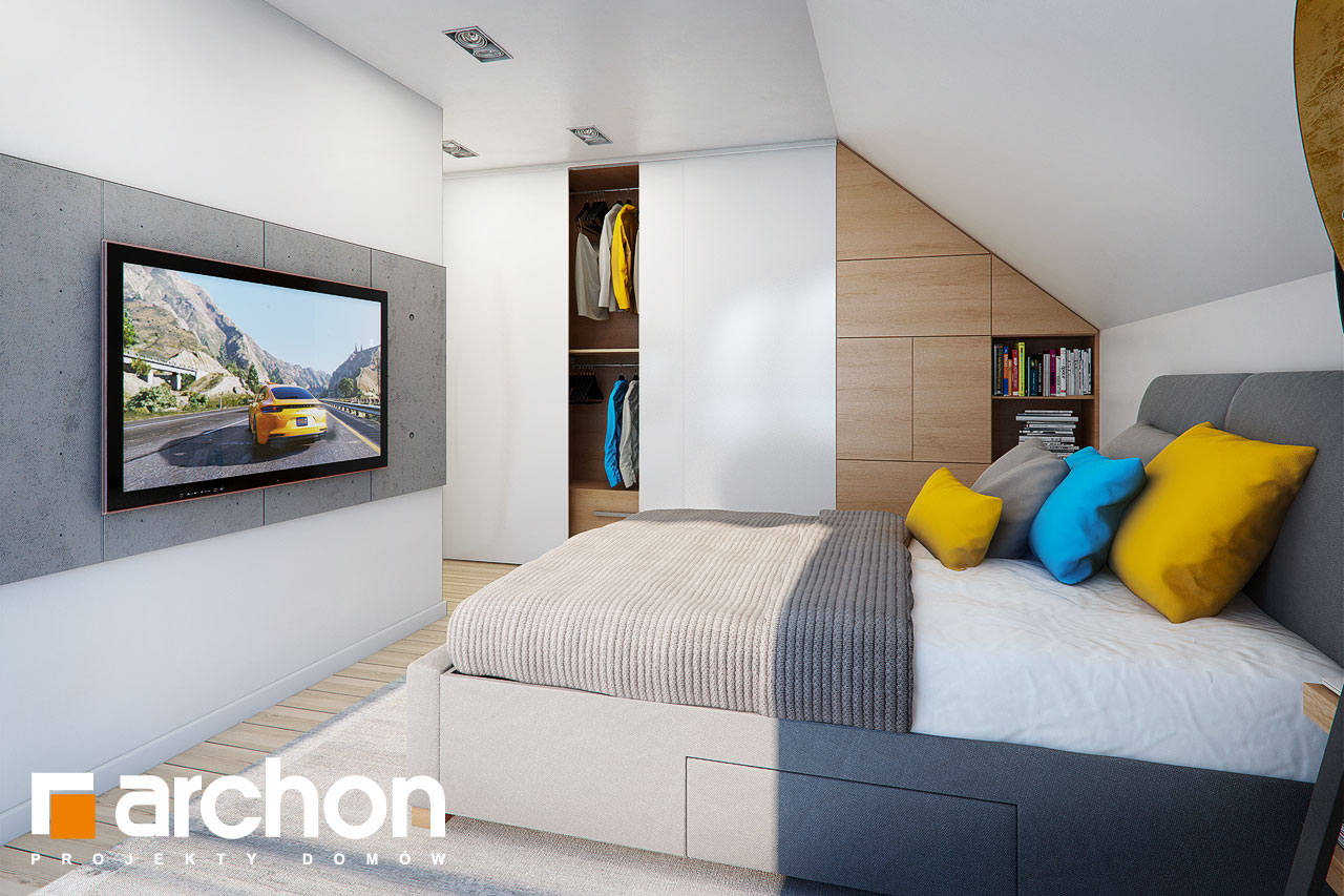 Проект будинку ARCHON+ Будинок в малинівці нічна зона (візуалізація 1 від 2)
