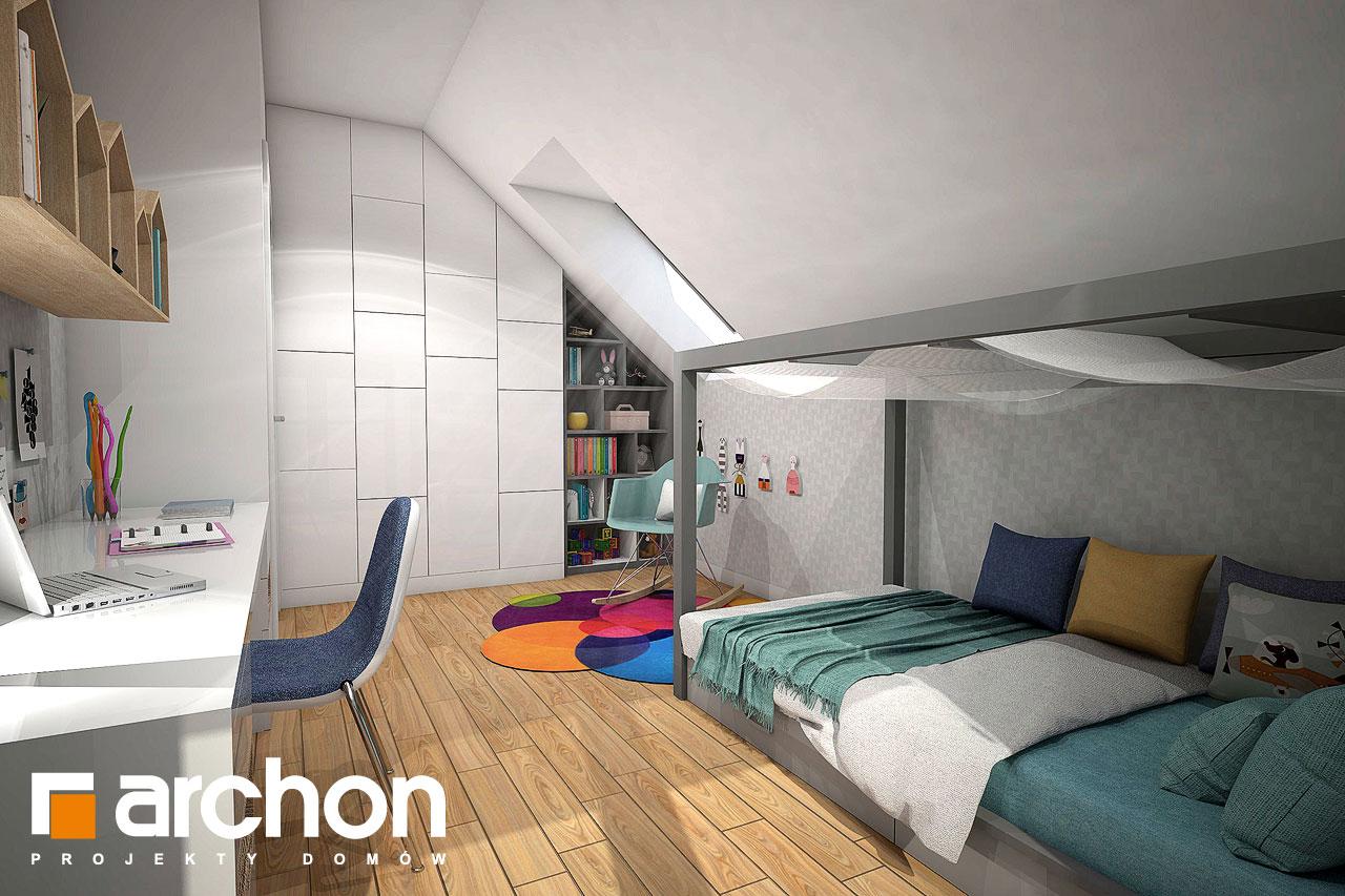 Проект будинку ARCHON+ Будинок в малинівці нічна зона (візуалізація 2 від 3)