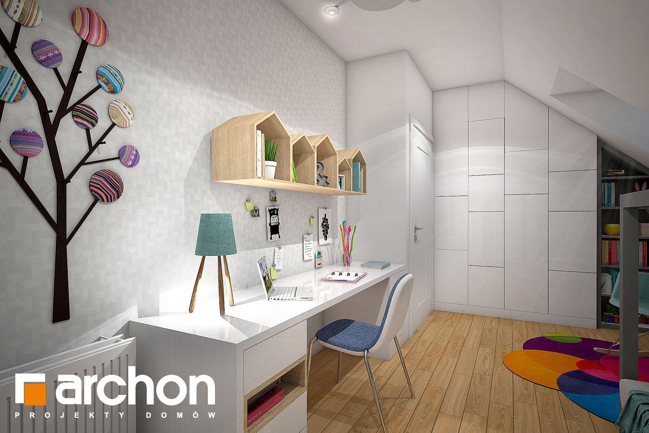 Проект будинку ARCHON+ Будинок в малинівці нічна зона (візуалізація 2 від 4)