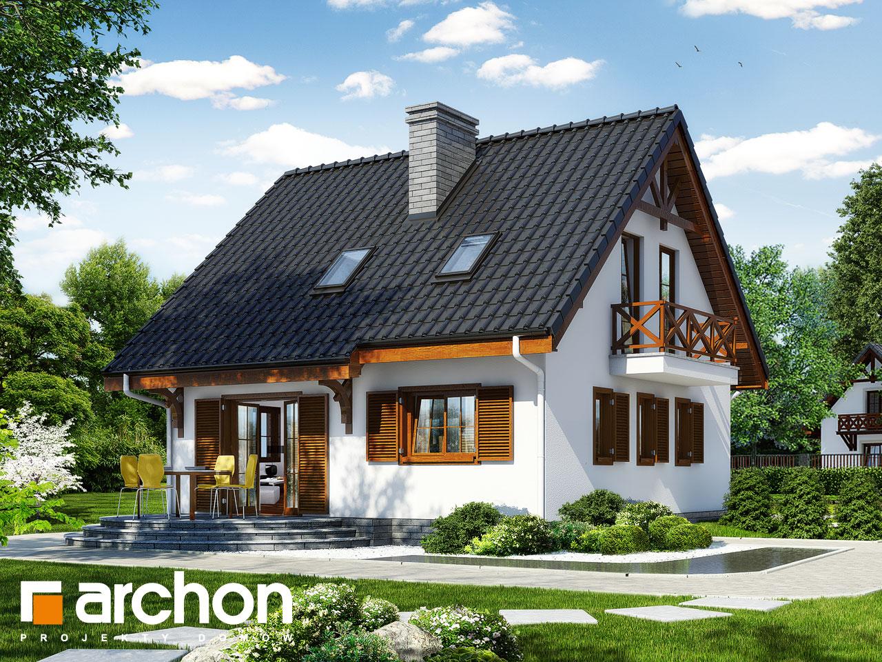 Проект будинку ARCHON+ Будинок в суниці 3 (П) вер.2 Вид 2