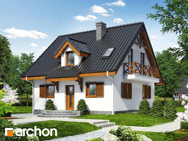 Проект будинку ARCHON+ Будинок в суниці 3 (П) вер.2 Вид 1